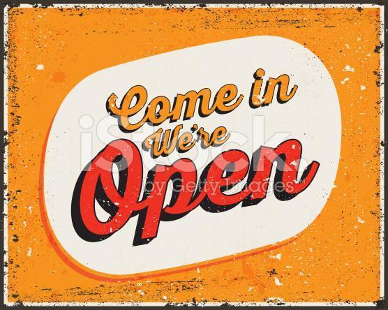 stock-illustration-60231460-retro-typography-vintage-metal-sign-quote-come-in-we-re-open-